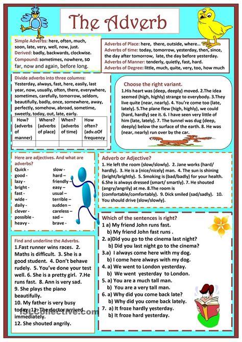 adverbs  manner worksheet grade  schematic  wiring