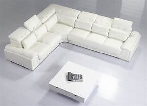 divani casa t93c modern leather sectional sofa With modern sectional sofa
