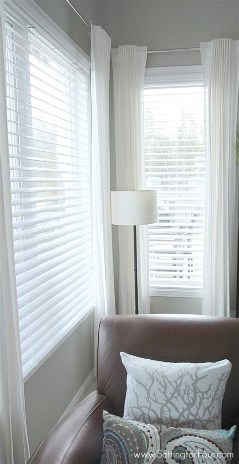 Blinds With Drapes - updating the windows faux wood blinds installation