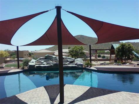 shade sails give  sun protection   pool arizona shade sails