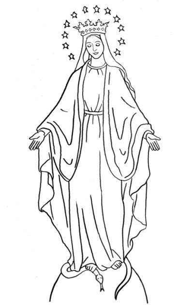 Virgin Mary Coloring Pages - | Catholic coloring, Saint