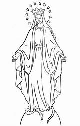 Mary Coloring Pages Catholic Mother Saints Virgin Blessed Lady Tattoo Saint Yahoo sketch template