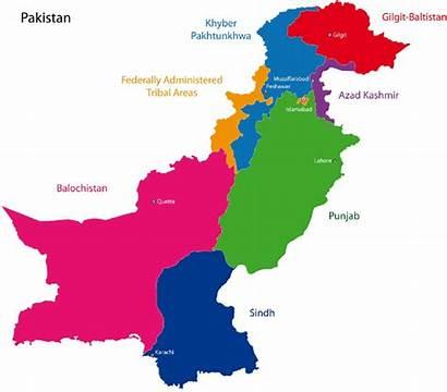 Pakistan Kashmir Map Azad Provinces Location Diagram
