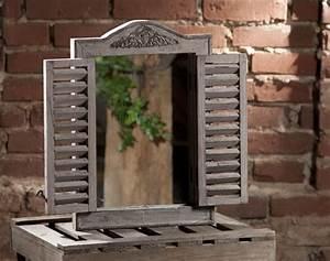 Spiegel Sichtschutzfolie Fenster : wandspiegel spiegelfenster spiegel holz fenster braun ~ Articles-book.com Haus und Dekorationen