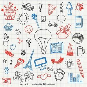 Simple doodles collection Vector | Free Download