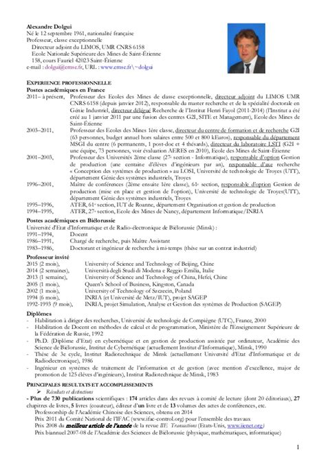 cv court en francais 2 pages a dolgui