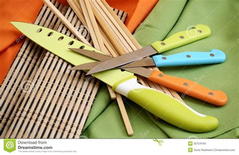 colorful kitchen tools cooking tools kitchen work chef stock images image 35154194 2354