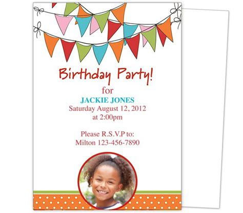images  kids birthday party invitation