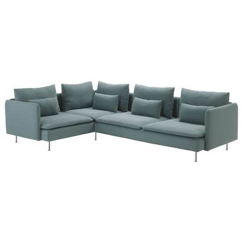 canapé kramfors ikea söderhamn corner sofa 2 1 finnsta turquoise 291x198 cm ikea
