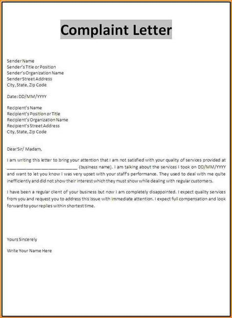 customer complaint template sop word  templates