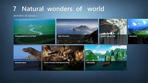 7 natural wonders of the world list
