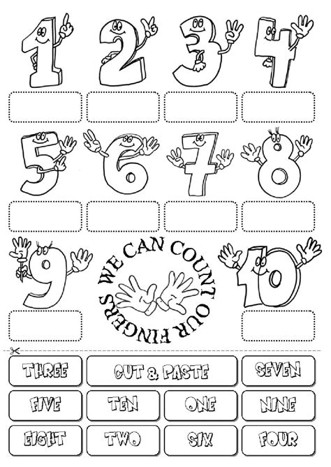 Count The Fingers  Interactive Worksheet