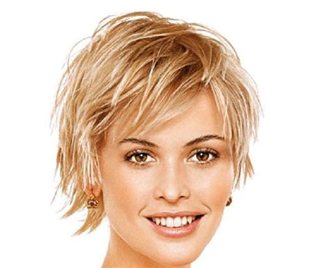 photo  short hairstyles  high forehead