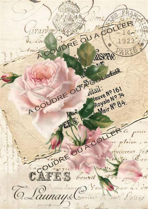 cuadro tris rose shabby vignette tissu shabby chic 233 criture ancienne 40 laminas shabby y vintage laminas de