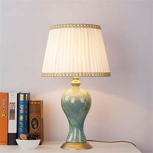 Modern porcelain table lamp bedside ceramic lamp living for Ceramic table lamps for living room