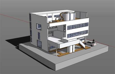 3d design kitchen sketchup 3d architecture models villa stein le corbusier 1083
