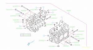 Subaru Forester Straight Pin  Ej25  2pcs  Body  Block