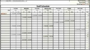 Monthly staff schedule template excel excel employee for Multiple employee schedule template