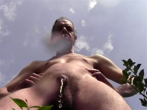 Long And Hot Pee Shower Outdoor In Public Garden Amateur Solo Male Hairy Naked From London