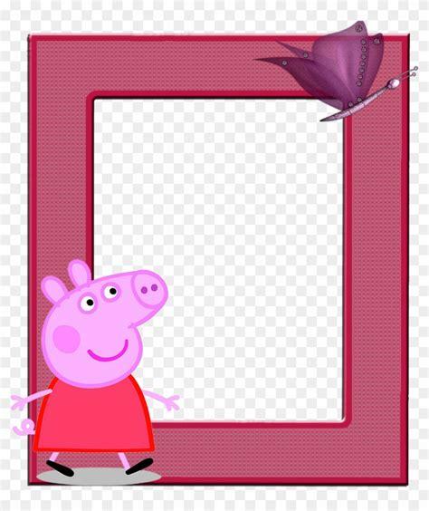 marcos invitaciones tarjetas o etiquetas de peppa marcos para de peppa pig free