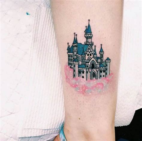 exquisite disney castle tattoo designs tattooblend