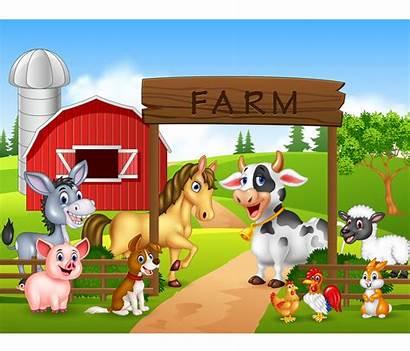 Farm Painel Fazendinha Animals Animais Sublimado Cartoon