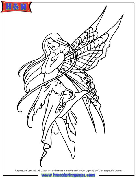 fairy tattoo design coloring page  printable
