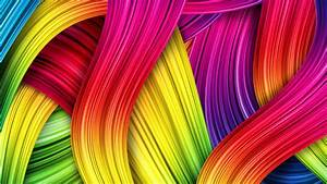 Colorful Lines Abstract Patterns Wallpaper