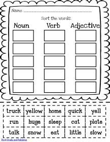 1000 images about adjectives nouns verbs pronouns pinterest parts of speech grammar