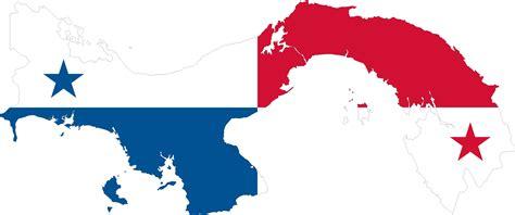 Clipart - Panama Map Flag