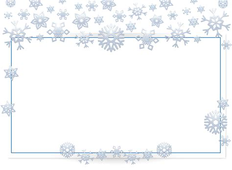 Transparent Background Snowflake Border by Image Result For Snowflake Border Transparent Frames
