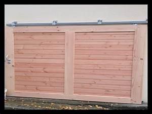 porte garage coulissante bois 834 garage idees With porte de garage de plus porte coulissante intégrée