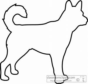 Animals Clipart- dog_outline_630 - Classroom Clipart