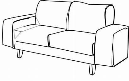 Couch Sofa Clipart Chair Clip Furniture Cliparts