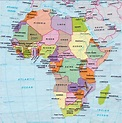 Online Maps: Africa map with capitals