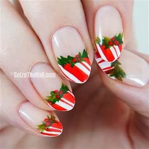 20 Easy & Simple Christmas Nail Art Designs Ideas