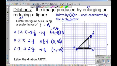 grade dilations  scale factor youtube