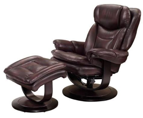 pedestal recliner and ottoman barcalounger roscoe plymouth mahogany leather pedestal
