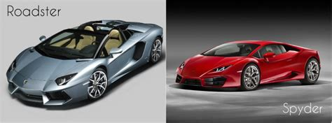 difference between lamborghini aventador coupe and roadster lamborghini difference between the spyder and roadster