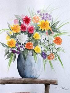 Blumen Bilder Gemalt : bild blumen strau stillleben bank von doris abel bei kunstnet ~ Orissabook.com Haus und Dekorationen