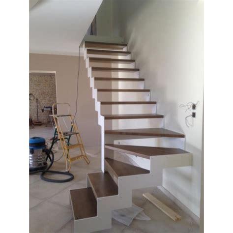 escalier 1 4 tournant limon metal cremaillere