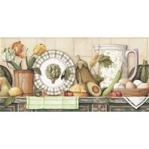 wallpaper borders  kitchen images  pinterest