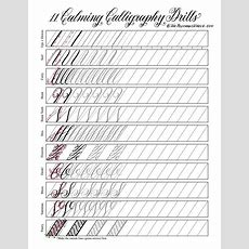 Hand Lettering Practice Exercises  Hand Lettering  Pinterest  Caligrafia Ejercicios