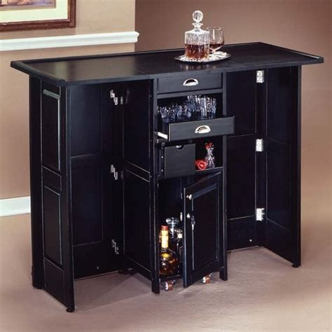 Portable Bar Furniture by Swing Open Portable Home Bar Contemporary Indoor Pub