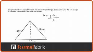 Wie Quadratmeter Berechnen : pythagoras fl cheninhalt von gleichschenkligem dreieck berechnen youtube ~ Themetempest.com Abrechnung