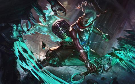 wallpapers ekko sword moba darkness league
