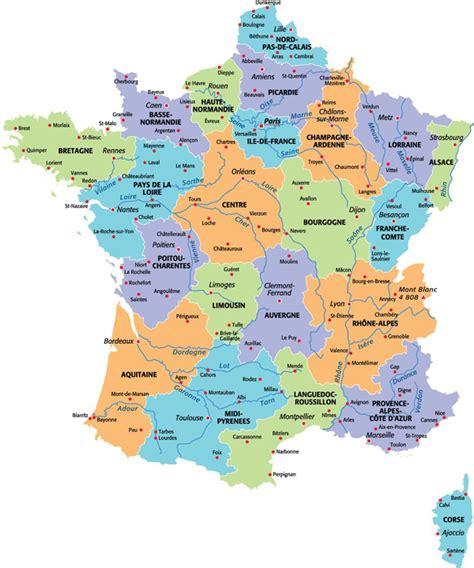 Carte De Region Et Departement Et Chef Lieu by Cartes De Cartes Des R 233 Gions D 233 Partements Et