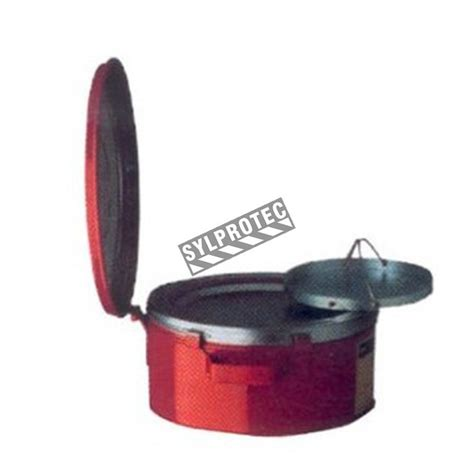 gallon steel bench container  solvent soaking fm