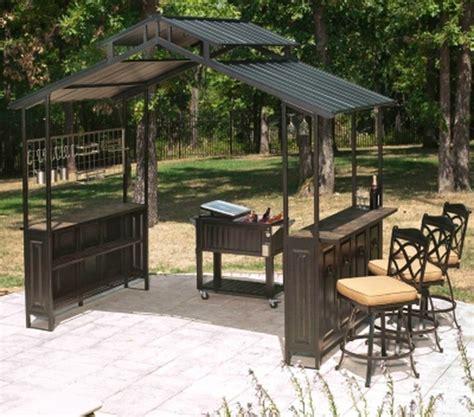 large steel frame grill gazebo outdoor bar vented hard