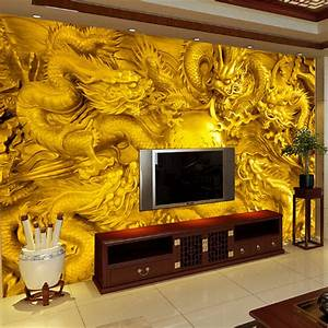 Aliexpress.com : Buy beibehang Embossed golden dragon 3d ...